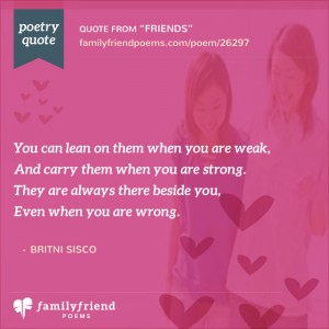 meaningful poetry quotes to share a friend
