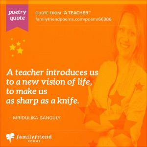 19 Teacher Poems - Thank You Poems For Teachers