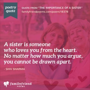 54 Sister Poems - Poems about Sisters For All Occasions