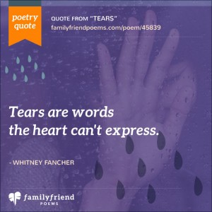 crying poems