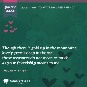 Poems to tell your best friend