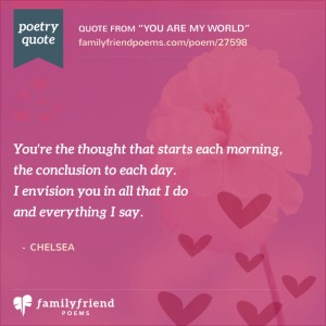 You Are My World Special Friend Poem