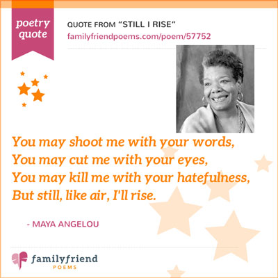 Quote From Still I Rise By Maya Angelou