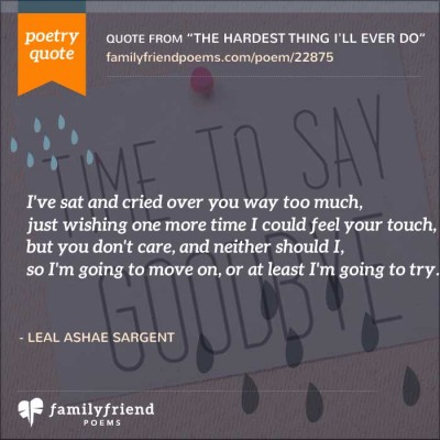 Quote About Needing To Move On