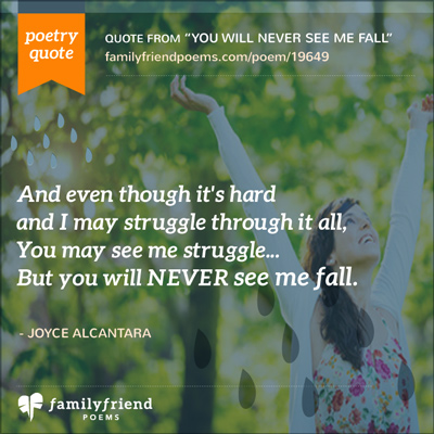 Poem About Your Strength, You Will Never See Me Fall